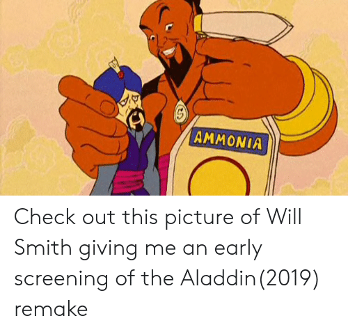 AMMONIA Check Out This Picture of Will Smith Giving Me an Early