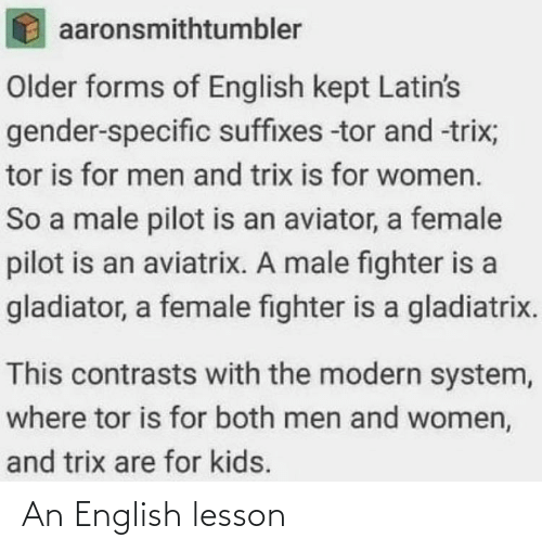Lesson: An English lesson