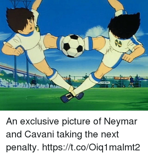 Memes, Neymar, and 🤖: An exclusive picture of Neymar and Cavani taking the next penalty. https://t.co/Oiq1malmt2