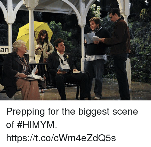 Memes, 🤖, and Himym: an Prepping for the biggest scene of #HIMYM. https://t.co/cWm4eZdQ5s