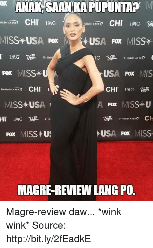 miss usa: ANAKSAANKAPUPUNTA M  CHI IMG  CHI  IMG  Mobile. ARENA  MISS USA Fox  M USA FOX  MISS*  F. Mobi  P. Mobile  Fox MISS  US  Fox MIS  CHI ING  CHI I.  A Fox MISS-U  MISS *USA  HI IMG.  F. Mobile  USA  Fox MISS  Fox MISS US  MAGREREVIEWLANG PO. Magre-review daw... *wink wink*  Source: http://bit.ly/2fEadkE