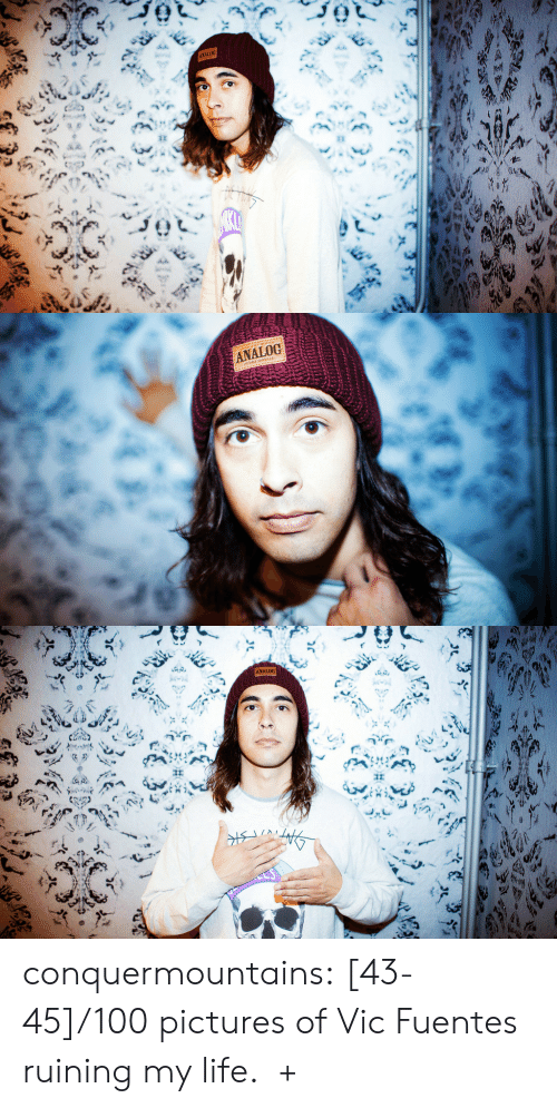 horizon: ANALOG  ह   ANALOG   ANALOG conquermountains:  [43-45]/100 pictures of Vic Fuentes ruining my life.  +