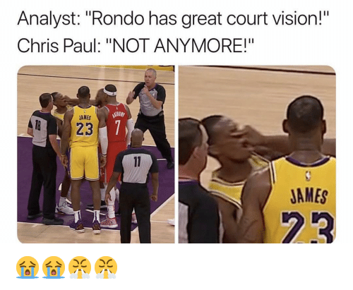 """Chris Paul: Analyst: """"Rondo has great court vision!  Chris Paul: """"NOT ANYMORE!""""  AMES  JAMES 😭😭😤😤"""