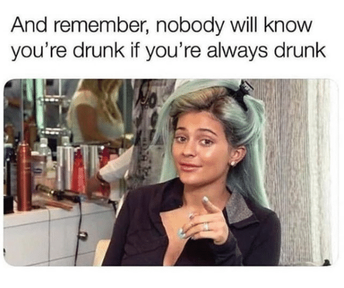 Drunk, Memes, and 🤖: And remember, nobody will know  you're drunk if you're always drunk