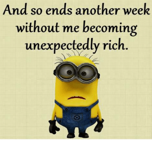 Memes, 🤖, and Without Me: And so ends another week  without me becoming  unexpectedly rich.