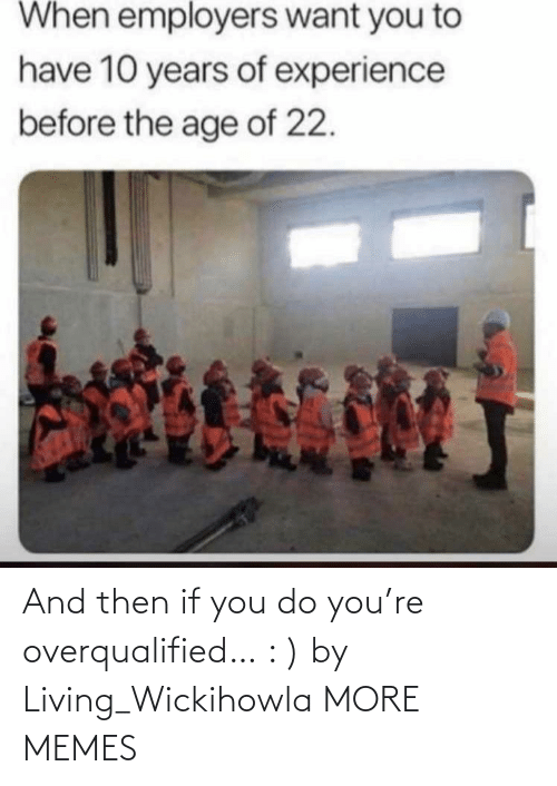 You Do: And then if you do you're overqualified… : ) by Living_Wickihowla MORE MEMES