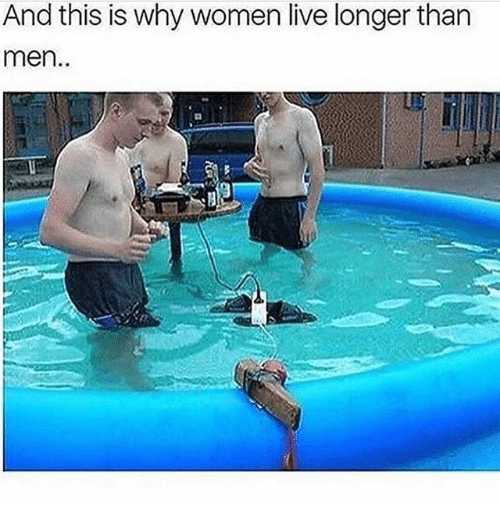 Funny, Live, and Women: And this is why women live longer than  men.