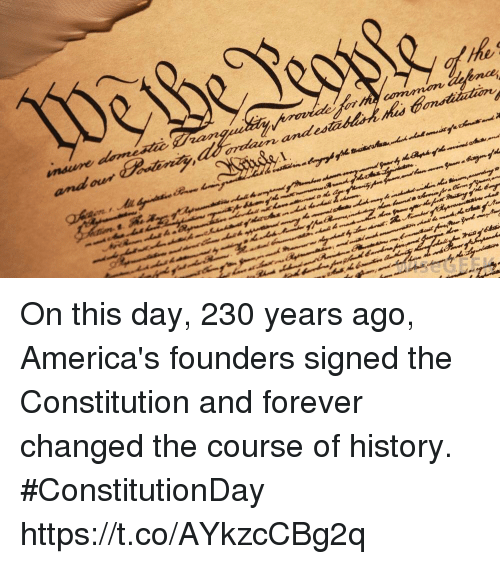 andes: andes On this day, 230 years ago, America's founders signed the Constitution and forever changed the course of history. #ConstitutionDay https://t.co/AYkzcCBg2q