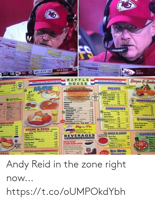 Andy: Andy Reid in the zone right now... https://t.co/oUMPOkdYbh