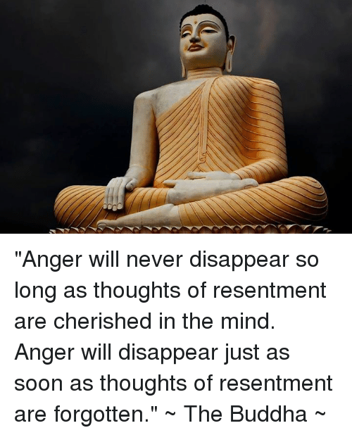 "Memes, Buddha, and 🤖: ""Anger will never disappear so long as thoughts of resentment are cherished in the mind. Anger will disappear just as soon as thoughts of resentment are forgotten.""   ~ The Buddha ~"