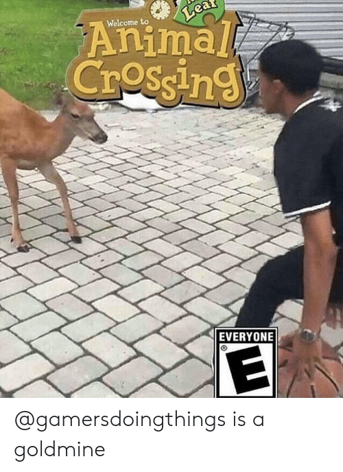 Memes, Animal, and 🤖: Animal  Crossin  Welcome to  EVERYONE @gamersdoingthings is a goldmine