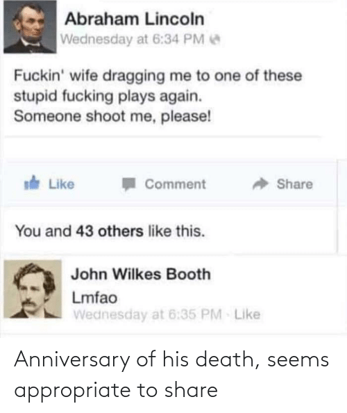 share: Anniversary of his death, seems appropriate to share