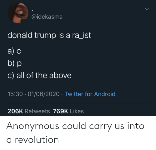 Carry: Anonymous could carry us into a revolution