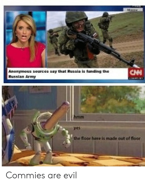 Af, Reddit, and Army: Anonymus surees s  Russian Army  ht Russin is famding the  the floor here ii made out af floor Commies are evil