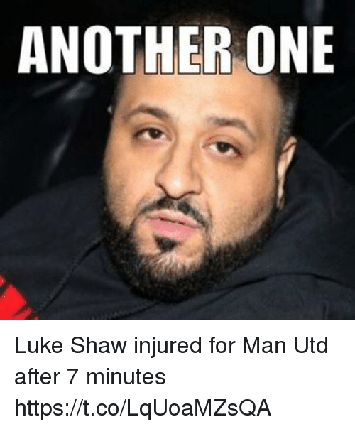 After 7: ANOTHER ONE Luke Shaw injured for Man Utd after 7 minutes https://t.co/LqUoaMZsQA