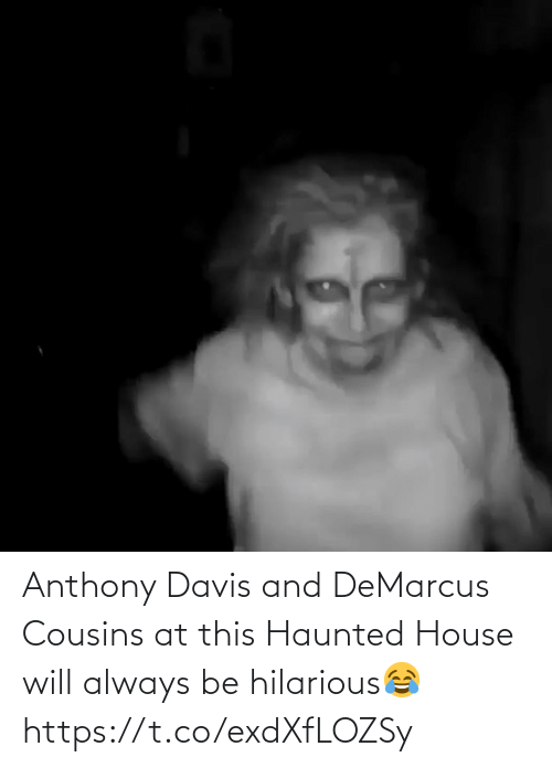 cousins: Anthony Davis and DeMarcus Cousins at this Haunted House will always be hilarious😂 https://t.co/exdXfLOZSy