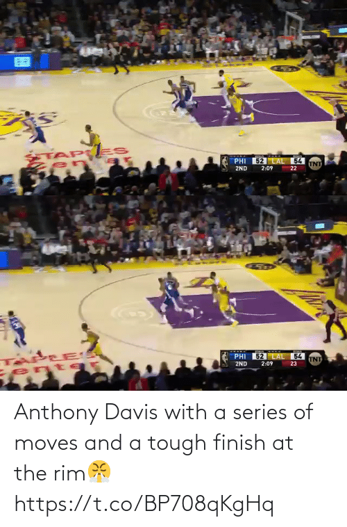 Tough: Anthony Davis with a series of moves and a tough finish at the rim😤 https://t.co/BP708qKgHq