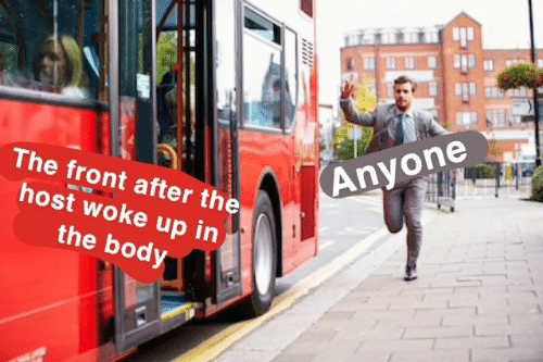 Body: Anyone  The front after the  host woke up in  the body