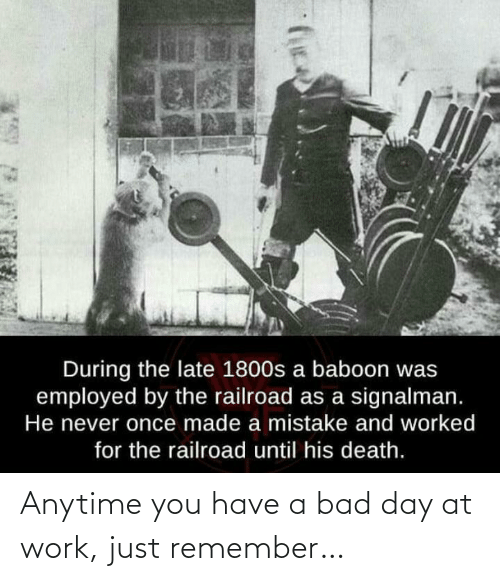 at-work: Anytime you have a bad day at work, just remember…