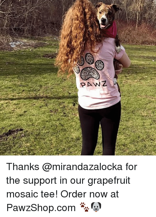 grapefruiting: ANZ Thanks @mirandazalocka for the support in our grapefruit mosaic tee! Order now at PawzShop.com 🐾🐶