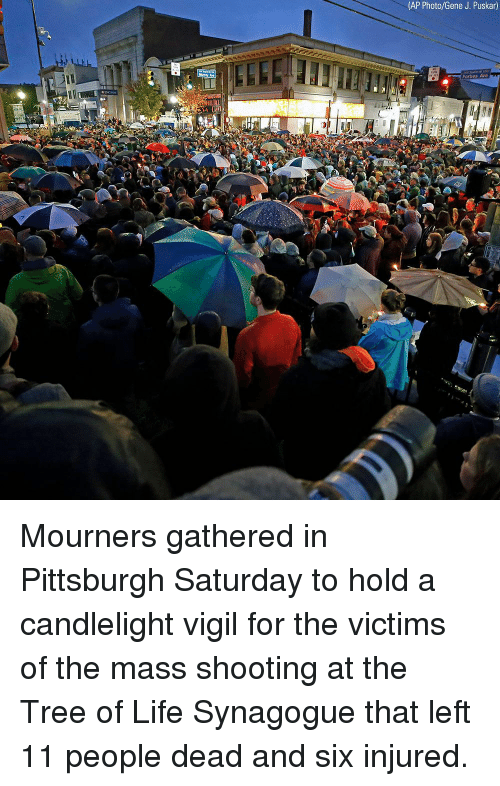 Life, Memes, and Forbes: (AP Photo/Gene J. Puskar)  Forbes Ave Mourners gathered in Pittsburgh Saturday to hold a candlelight vigil for the victims of the mass shooting at the Tree of Life Synagogue that left 11 people dead and six injured.