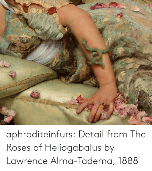 Lawrence: aphroditeinfurs: Detail fromThe Roses of Heliogabalus by Lawrence Alma-Tadema, 1888