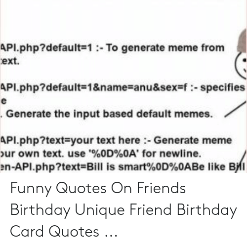 api default 1to generate meme from ext api default 1 name anu f specifies
