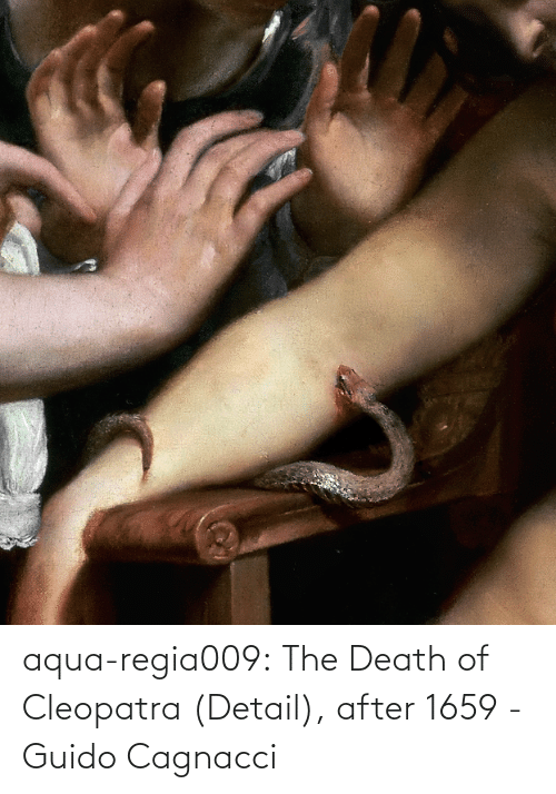 Death: aqua-regia009: The Death of Cleopatra (Detail), after 1659 - Guido Cagnacci
