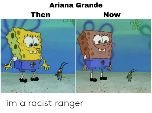 Ariana Grande, Racist, and Dank Memes: Ariana Grande  Then  Now im a racist ranger