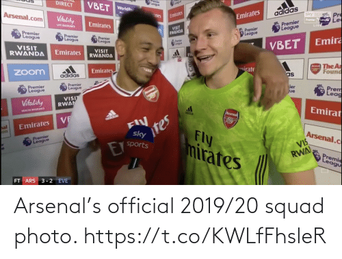photo: Arsenal's official 2019/20 squad photo. https://t.co/KWLfFhsleR