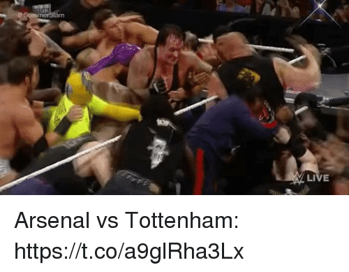 Arsenal, Soccer, and Tottenham: Arsenal vs Tottenham: https://t.co/a9glRha3Lx