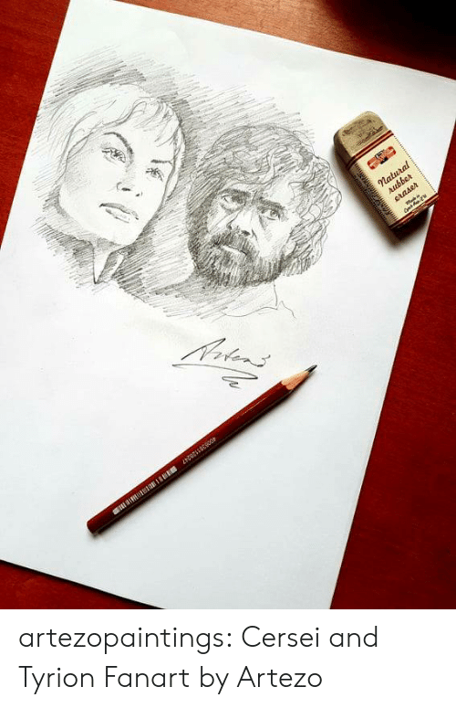 Tumblr, Blog, and Etsy: artezopaintings:  Cersei and Tyrion Fanart by Artezo