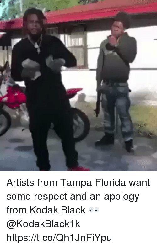 Memes, Respect, and Black: Artists from Tampa Florida want some respect and an apology from Kodak Black 👀 @KodakBlack1k https://t.co/Qh1JnFiYpu