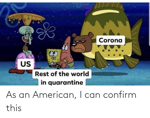 American: As an American, I can confirm this