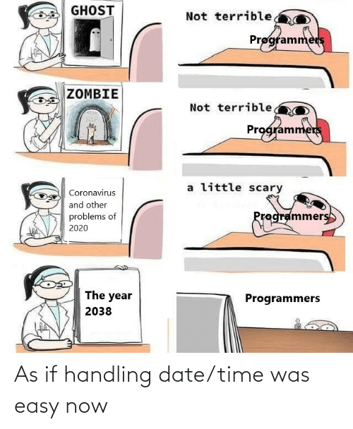 easy: As if handling date/time was easy now