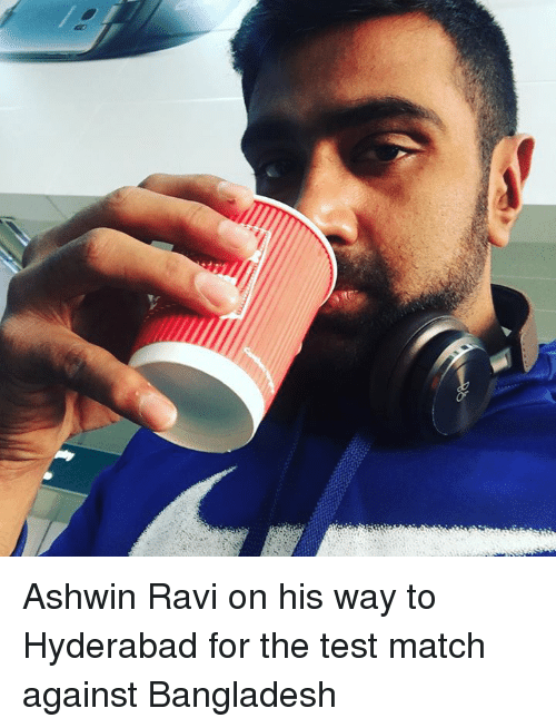Memes, 🤖, and Bangladesh: Ashwin Ravi on his way to Hyderabad for the test match against Bangladesh