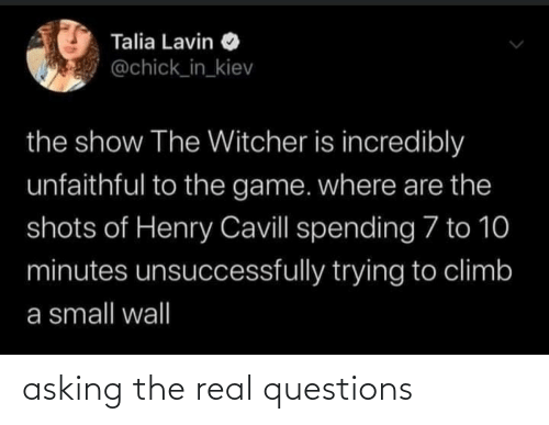 Asking: asking the real questions