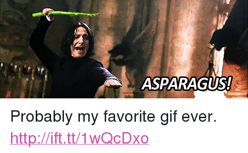 "Gif, Asparagus, and Http: ASPARAGUS! <p>Probably my favorite gif ever. <a href=""http://ift.tt/1wQcDxo"">http://ift.tt/1wQcDxo</a></p>"