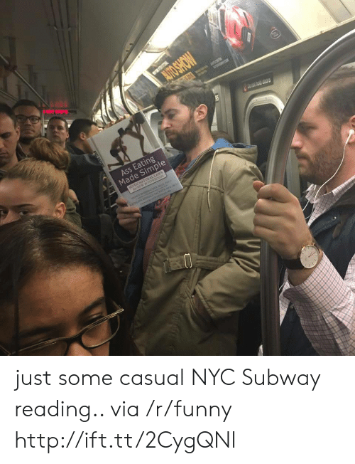 Ass Eating: Ass Eating  Made Simple just some casual NYC Subway reading.. via /r/funny http://ift.tt/2CygQNI