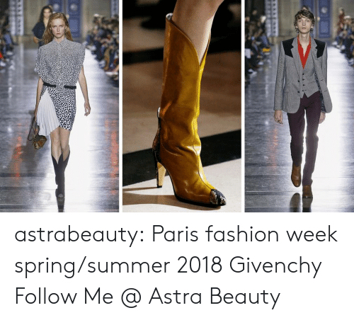 Fashion, Tumblr, and Summer: astrabeauty: Paris fashion week spring/summer 2018 Givenchy Follow Me @ Astra Beauty