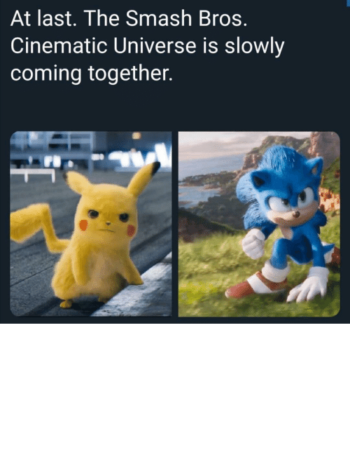 Dank, Memes, and Smashing: At last. The Smash Bros.  Cinematic Universe is slowly  coming together. Who else thinks this would be cool by GamersBayCayman MORE MEMES