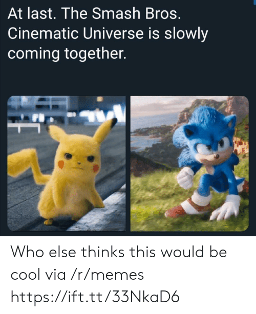 bros: At last. The Smash Bros.  Cinematic Universe is slowly  coming together. Who else thinks this would be cool via /r/memes https://ift.tt/33NkaD6