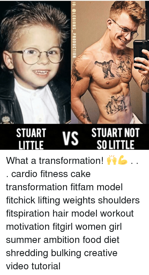 Creativer: ate  VS STUARTNOT  STUART  SO LITTLE  OE  NL  Rn  AL  UO  TS  10: @LEGIONS-PRODUCTION  UT What a transformation! 🙌💪 . . . cardio fitness cake transformation fitfam model fitchick lifting weights shoulders fitspiration hair model workout motivation fitgirl women girl summer ambition food diet shredding bulking creative video tutorial