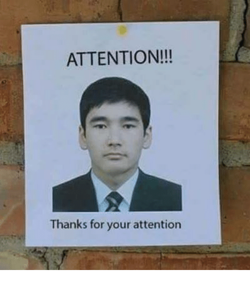 Attentation: ATTENTION!!!  Thanks for your attention