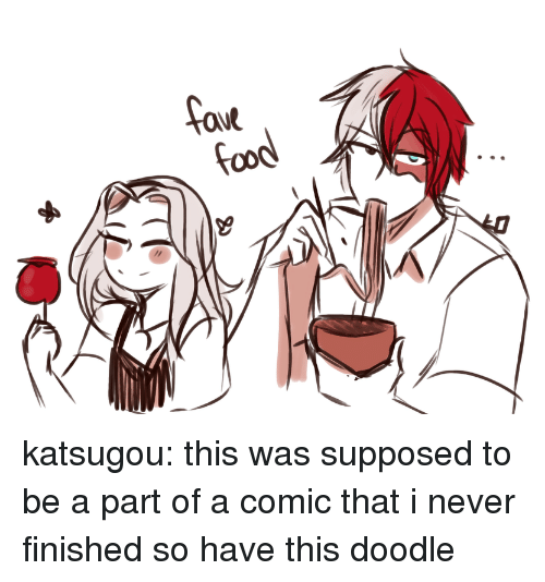 Target, Tumblr, and Blog: aue katsugou:  this was supposed to be a part of a comic that i never finished so have this doodle