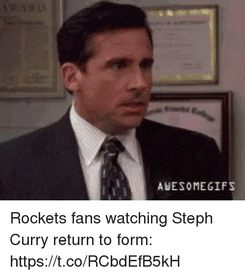 Sports, Steph Curry, and Curry: AUESOMEGIFS Rockets fans watching Steph Curry return to form: https://t.co/RCbdEfB5kH