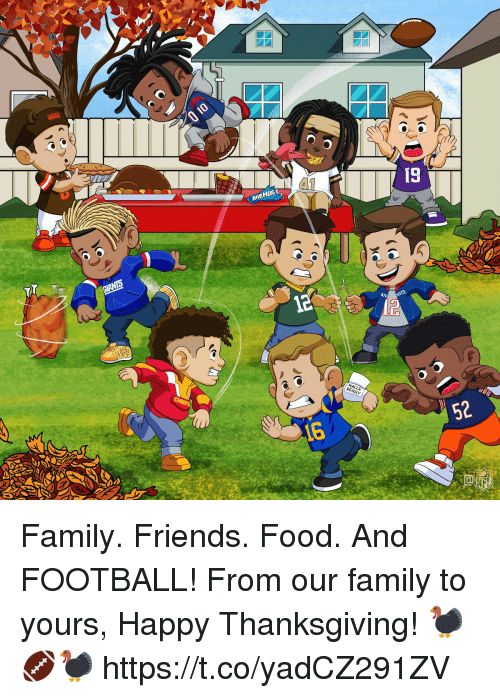 Family, Food, and Football: AURHEDS  ATR  52  16 Family. Friends. Food. And FOOTBALL!  From our family to yours, Happy Thanksgiving! 🦃🏈🦃 https://t.co/yadCZ291ZV