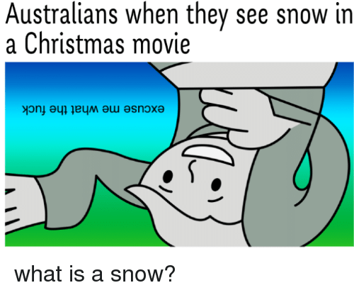 Christmas, Reddit, and Movie: Australians when they see snow in  a Christmas movie