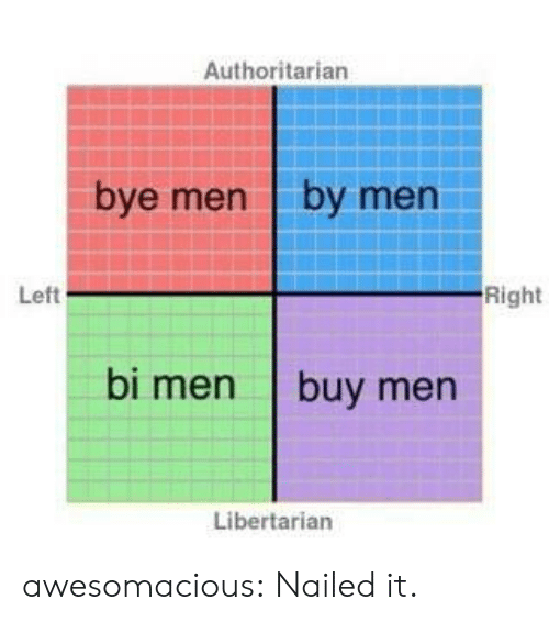 Tumblr, Blog, and Http: Authoritarian  bye men by men  Left  Right  bi men buy men  Libertarian awesomacious:  Nailed it.