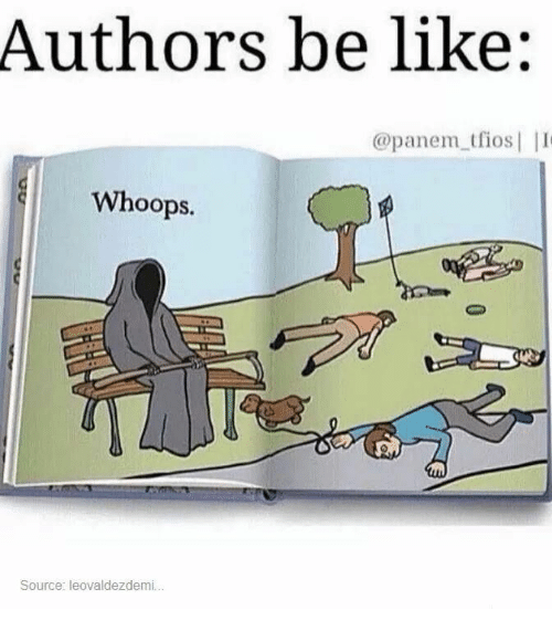 whoops: Authors be like:  @panem tfios  Whoops.  Source: leovaldezdemi...